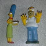 The Simpsons Homer and Marge PVC figures